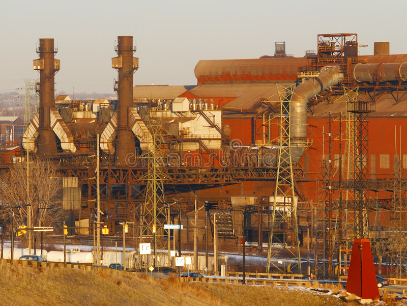 Download Blast furnaces stock image. Image of pipes, furnaces, brown - 4385927