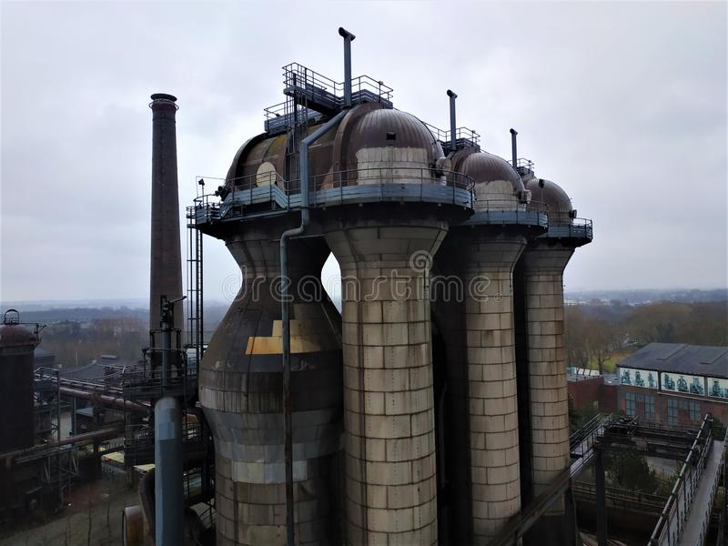 A blast furnance in the Landschaftspark Duisburg-Nord royalty free stock photography