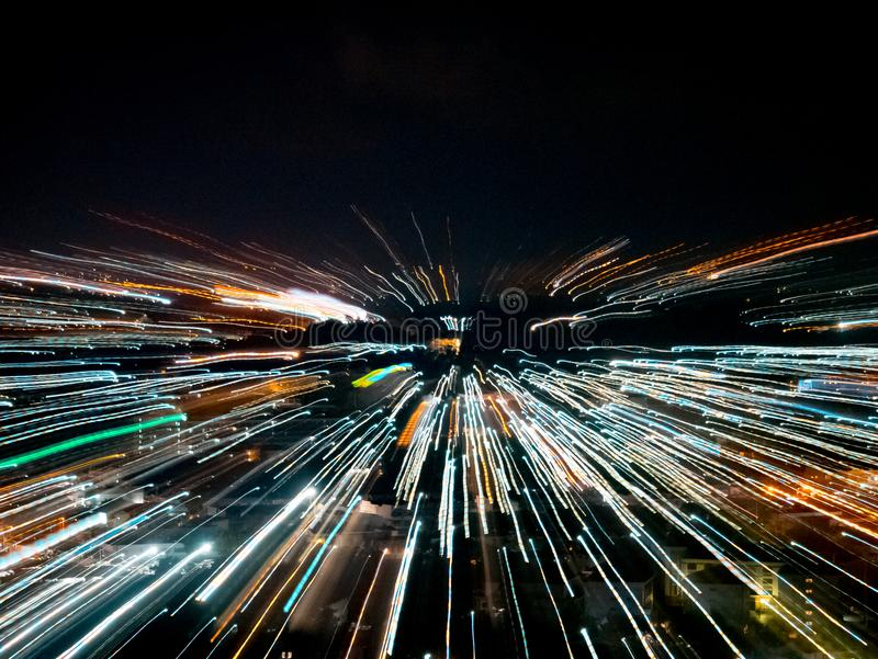 Blast zoom effect stock image