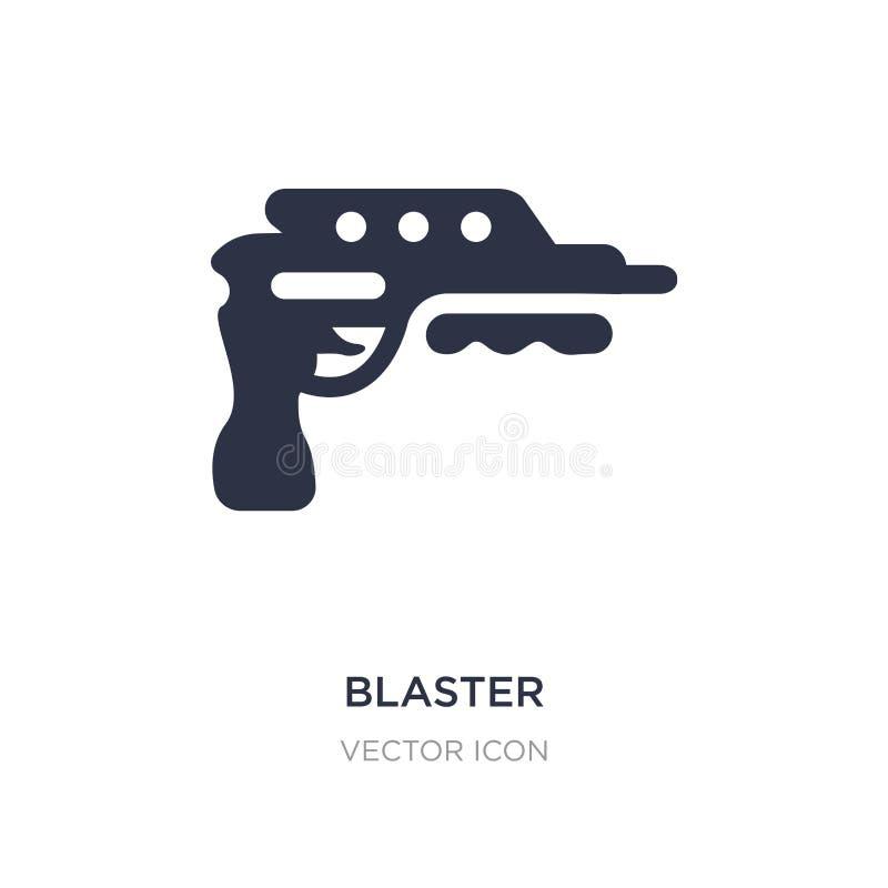 blastersymbol på vit bakgrund Enkel beståndsdelillustration från det framtida teknologibegreppet vektor illustrationer