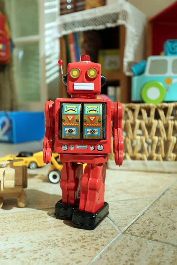 Blaszany zabawkarski robot obrazy stock