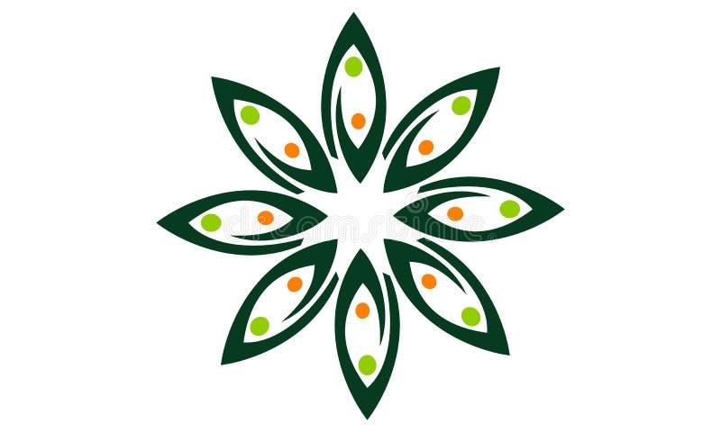 Blatt-Blume Wellness lizenzfreie abbildung