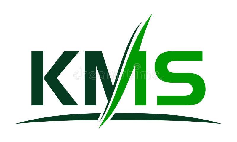 Blatt-Buchstabe K M S vektor abbildung