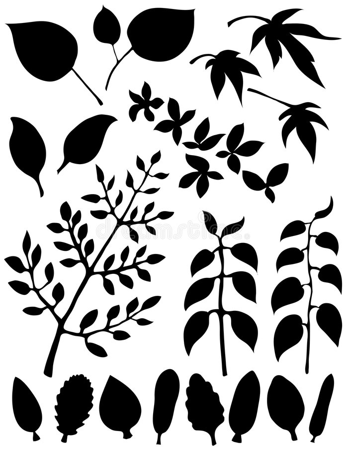 Blatt-Element-abstrakte Form stock abbildung
