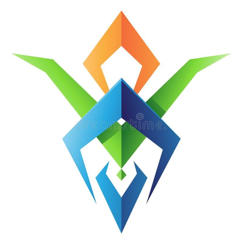 Blatt-geformte abstrakte Ikone vektor abbildung