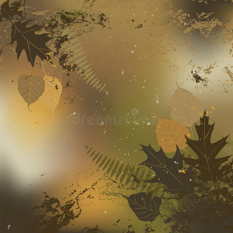 Blatt, Herbst - Vektorhintergrund stock abbildung