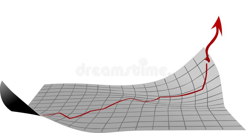 Blatt mit Wachstumsdiagramm lizenzfreie stockfotos