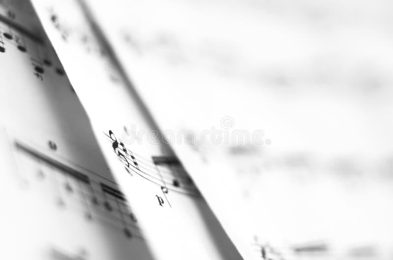 Blatt-Musik lizenzfreie stockfotografie