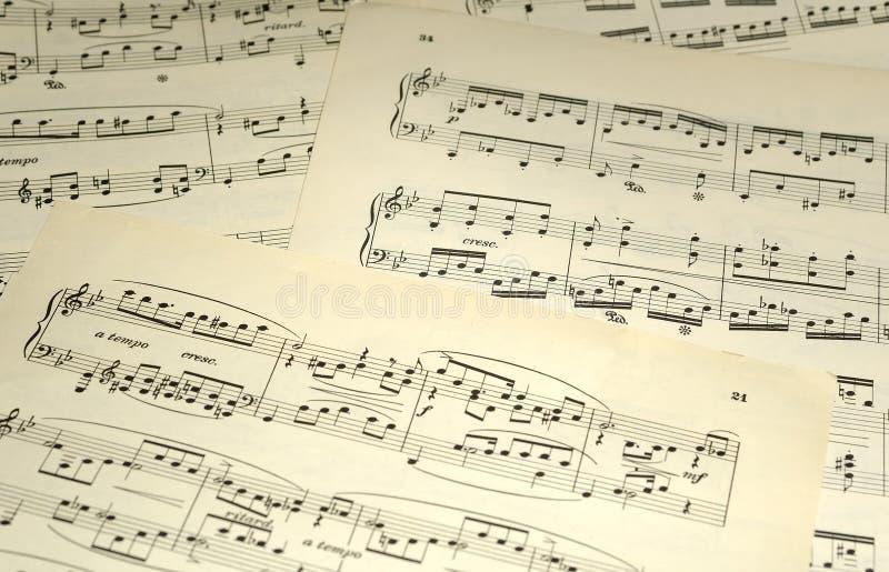 Blatt-Musik stockbild