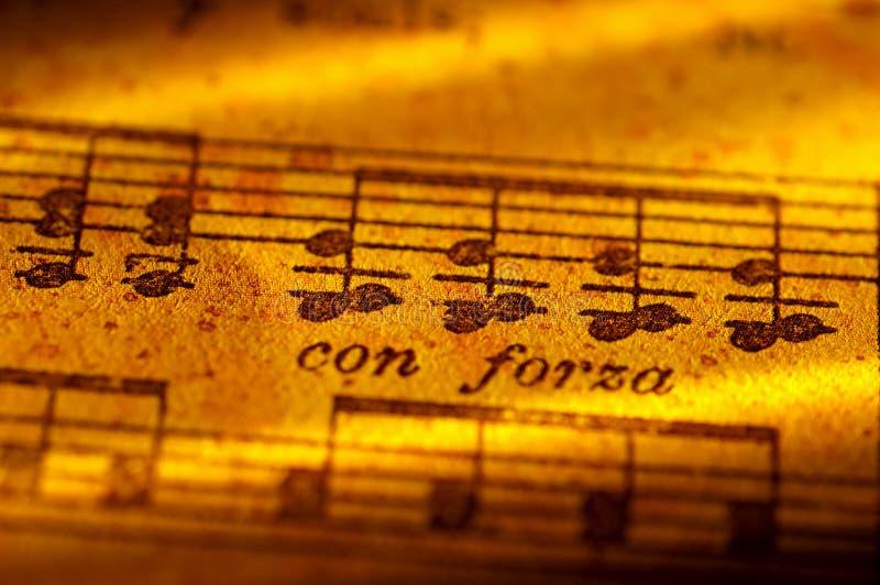 Blatt-Musik stockbilder