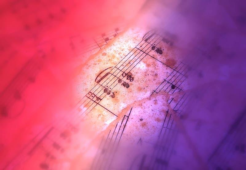 Blatt-Musik lizenzfreies stockbild
