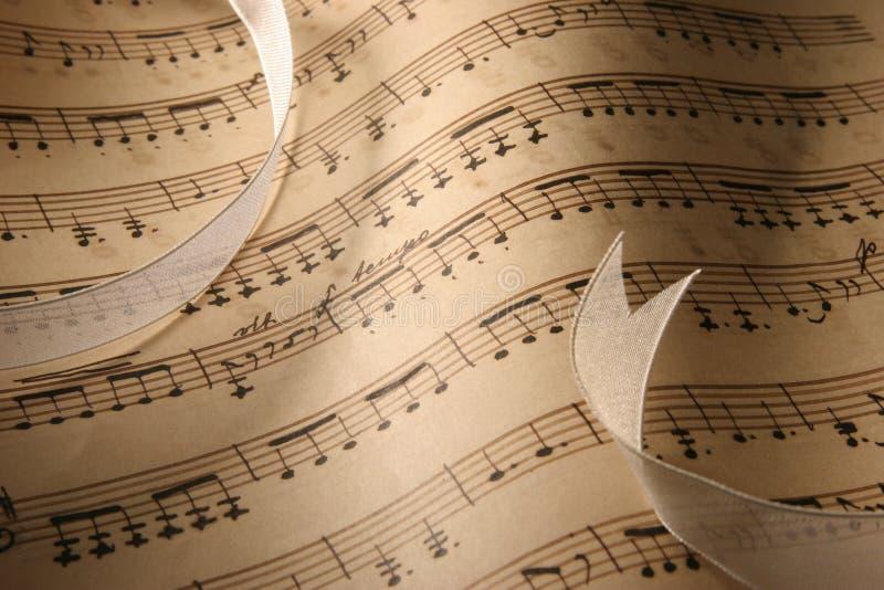 Blatt-Musik-Nahaufnahme. stockbild