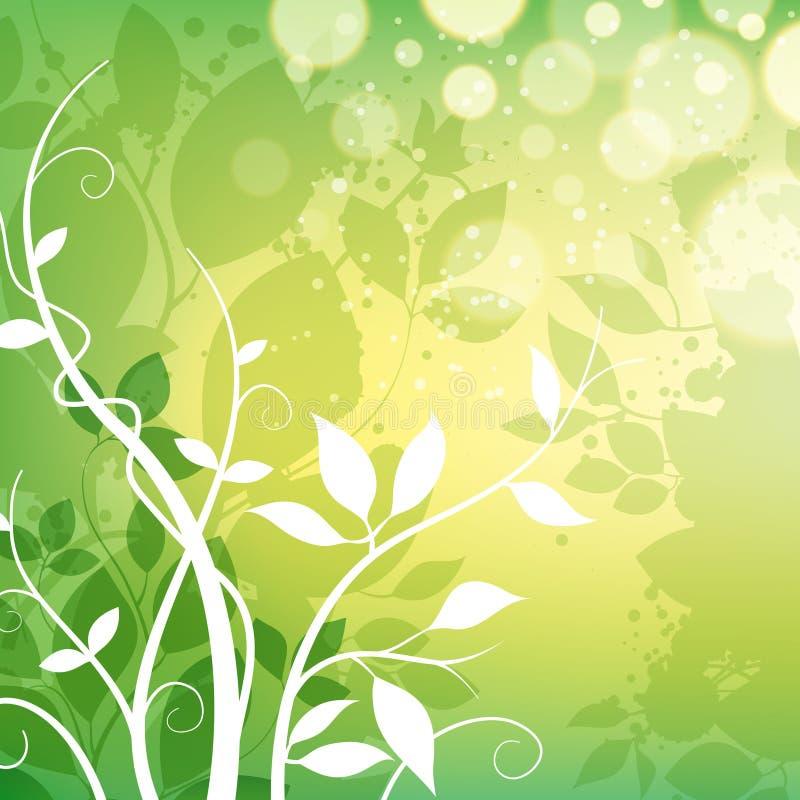Blatt-Natur-Hintergrund lizenzfreie abbildung