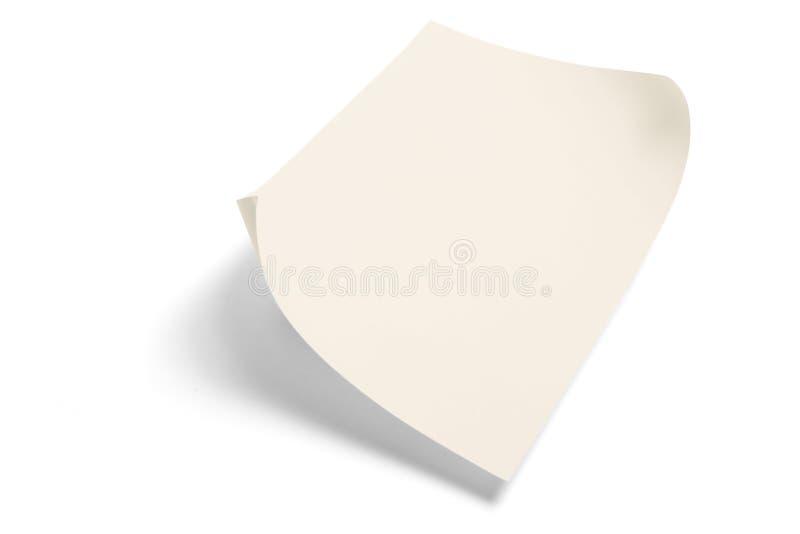 Blatt Papier lizenzfreies stockfoto
