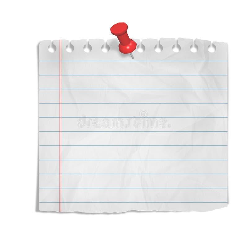 Blatt Papier stock abbildung