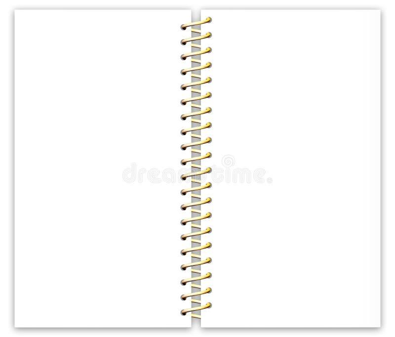 Blatt-Papier mit Metall Spiral-4 lizenzfreie abbildung