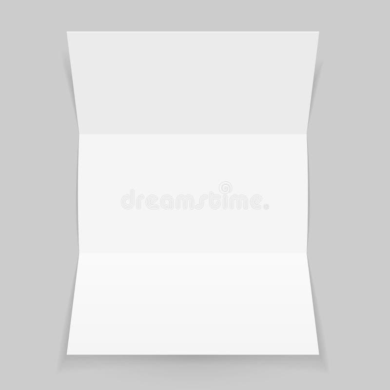 Blatt Papier oder Buchstaben gefaltet lizenzfreie abbildung