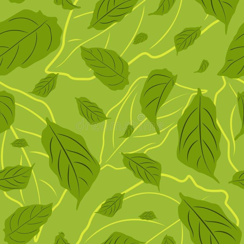 Blatt-Tropfen-gelegentliches Muster nahtlos vektor abbildung