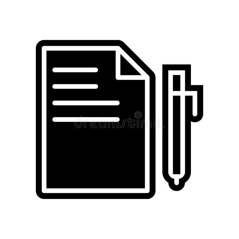 Blatt- und Bleistiftikone Element der Finanzierung f?r bewegliches Konzept und Netz Appsikone Glyph, flache Ikone f?r Websiteentw vektor abbildung