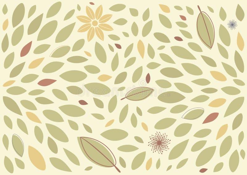 Blatt und Blumenhintergrund vektor abbildung