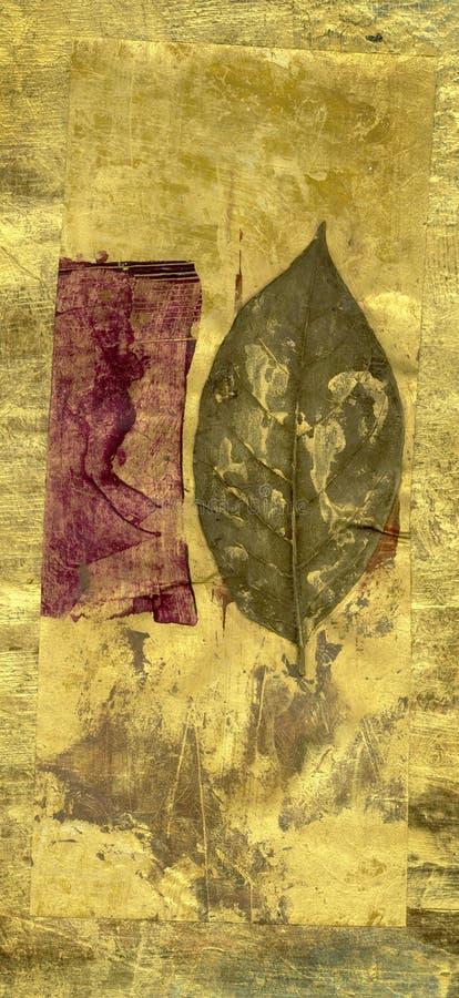 Blatt und Kastanienbraun lizenzfreie abbildung