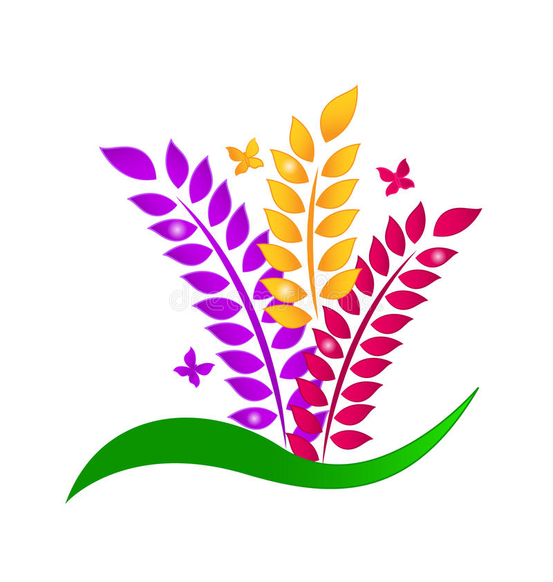 Blatt- und Schmetterlingsökologiekonzept lizenzfreie abbildung