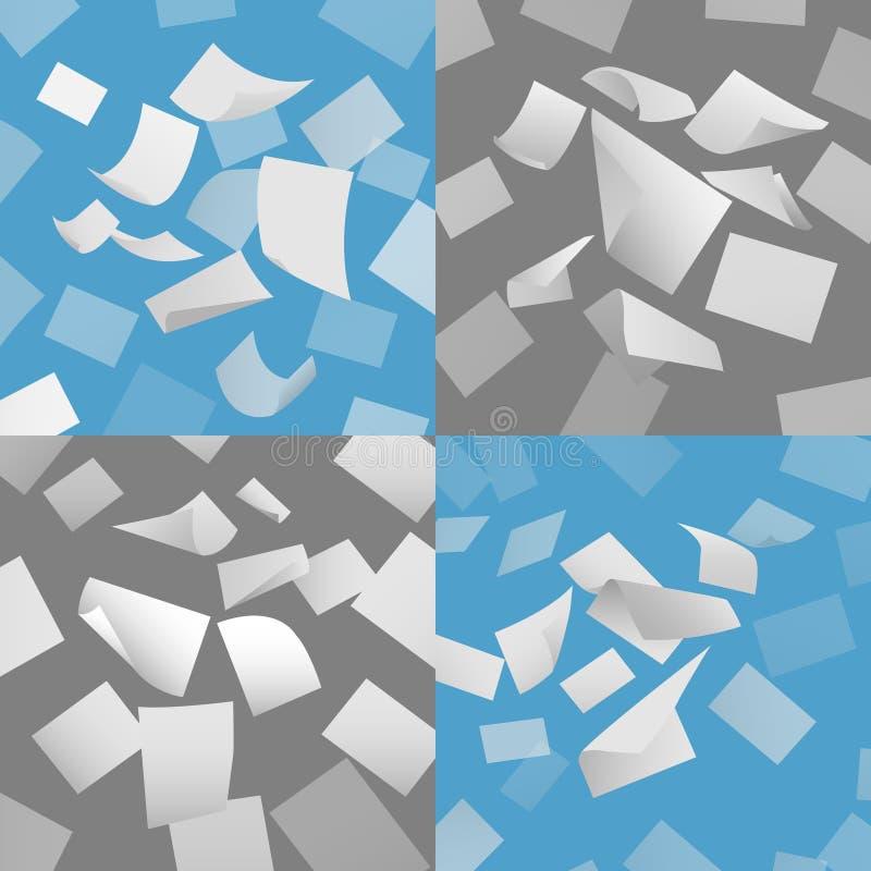 Blatt-Vektorsatz des Fliegenleeren papiers lizenzfreie abbildung