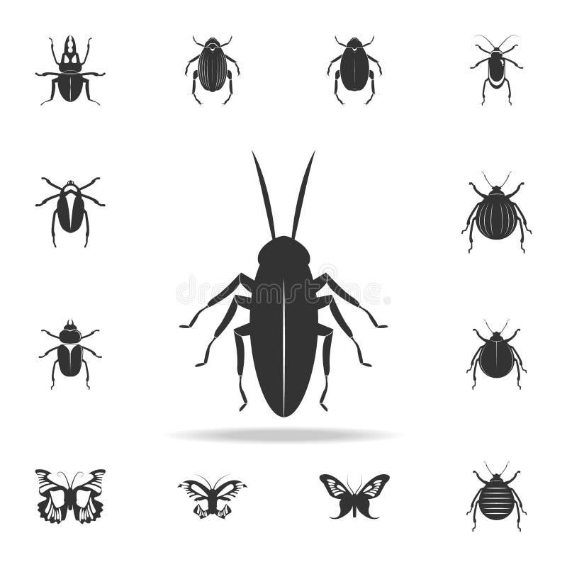 blatta Insieme dettagliato delle icone degli elementi degli insetti Progettazione grafica di qualità premio Una delle icone della royalty illustrazione gratis