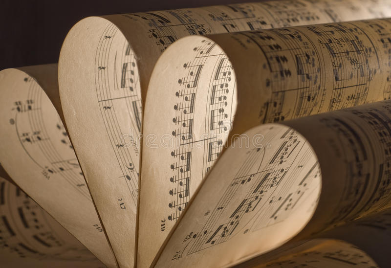 Blattmusik lizenzfreies stockfoto