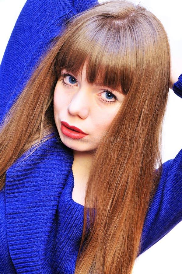Blauäugiges Mädchen stockfotografie