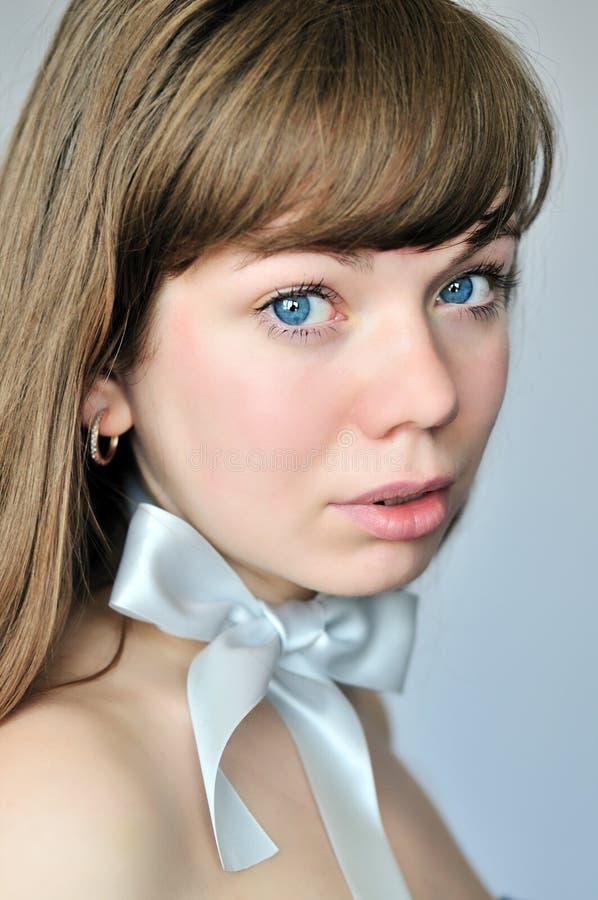 Blauäugiges Portrait stockbilder