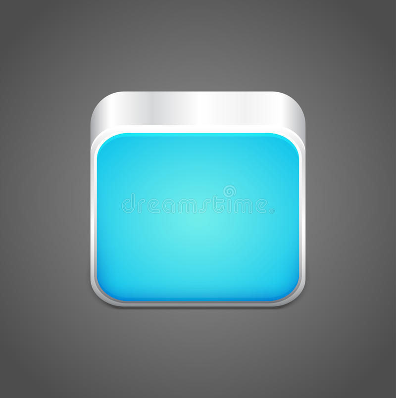 Blau-APP-Ikone des Vektors leere stock abbildung