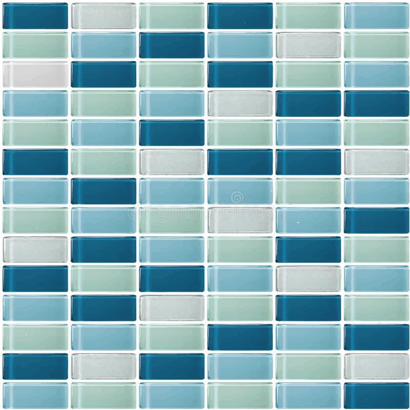 Blau das wirkliche Foto oder der Ziegelstein der Fliesenwandhohen aufl?sung nahtlos und Beschaffenheitsinnenraumhintergrund vektor abbildung
