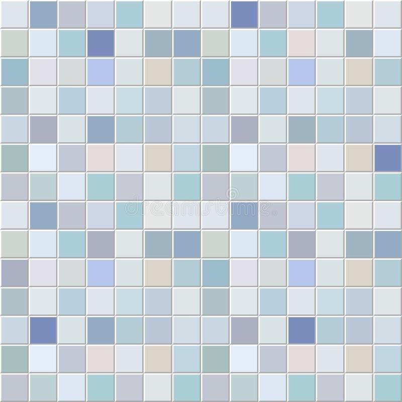 Blau deckt Mosaikmuster mit Ziegeln lizenzfreie abbildung