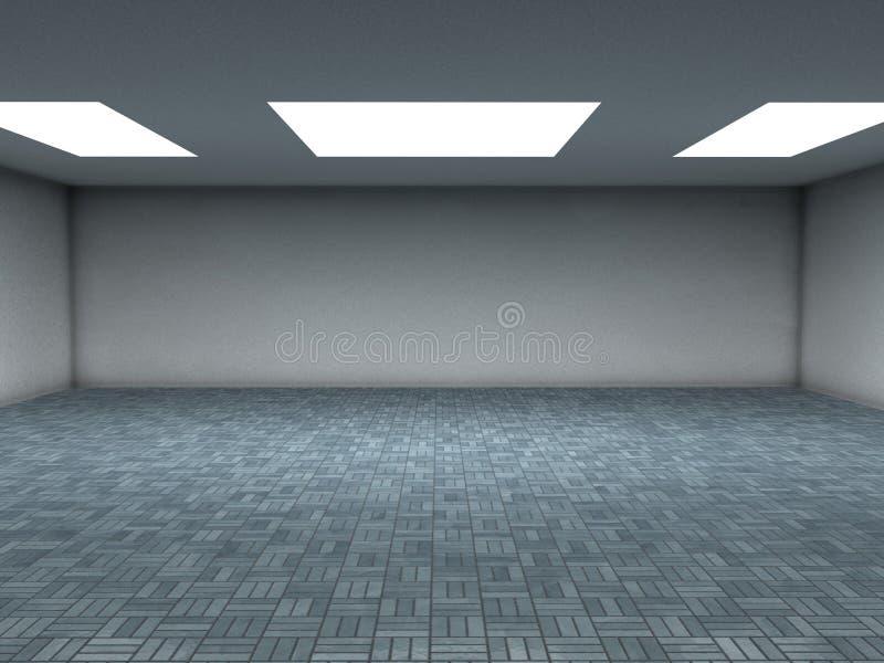 Blau deckt Raum mit Ziegeln vektor abbildung