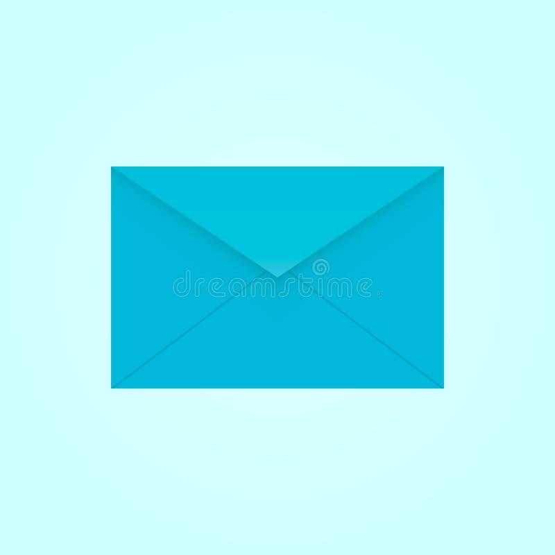 Blau-geöffneter Umschlag lizenzfreies stockfoto