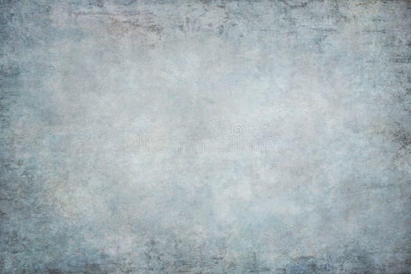 Blau gemalter Segeltuchgewebestoff-Studiohintergrund lizenzfreies stockfoto