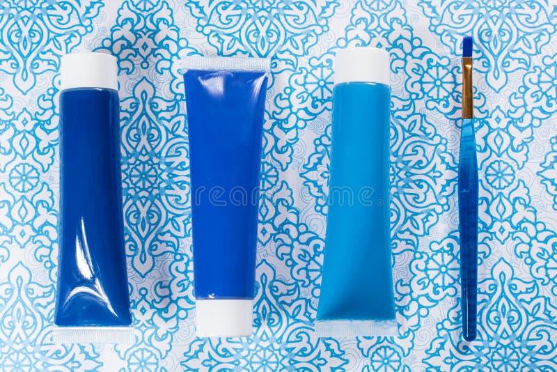 Blau, Indigo, Kobaltfarben - Haupt-interieur Konzept des Entwurfes, an lizenzfreies stockbild