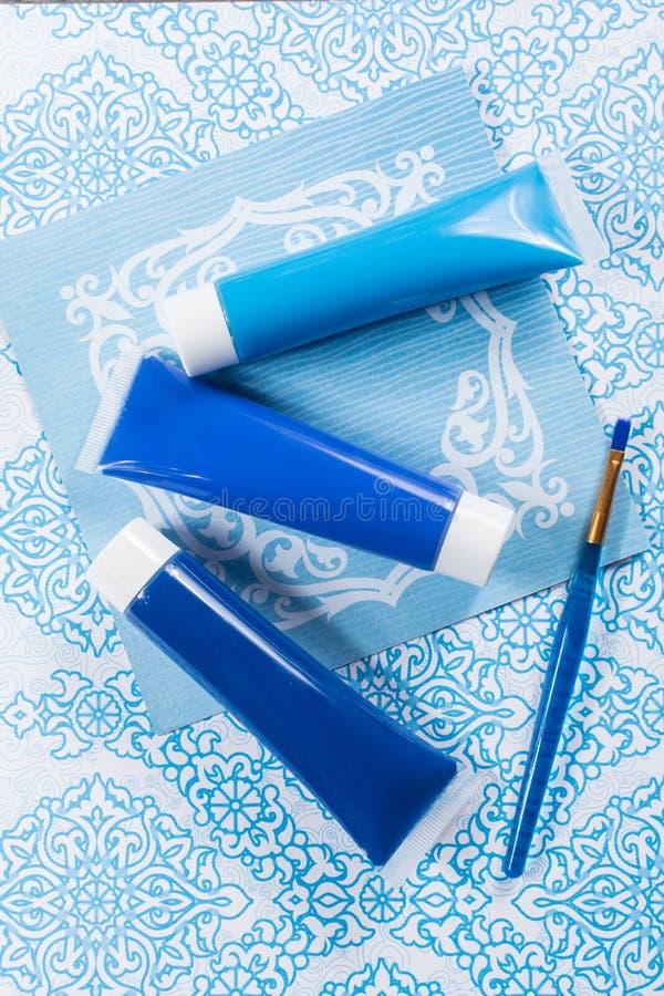 Blau, Indigo, Kobaltfarben - Haupt-interieur Konzept des Entwurfes, an lizenzfreie stockbilder