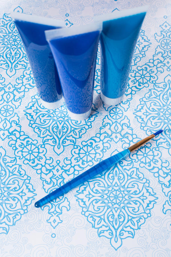 Blau, Indigo, Kobaltfarben - Haupt-interieur Konzept des Entwurfes, an stockfotografie