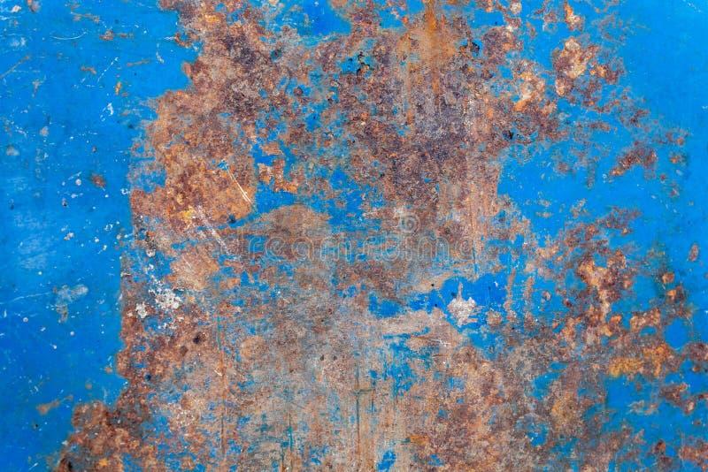 Blau malte alten Rusty Metal Texture lizenzfreies stockfoto