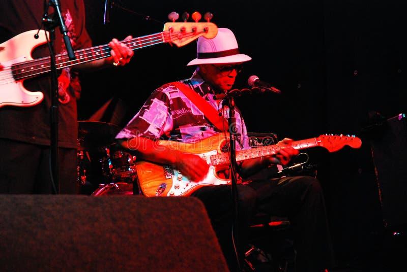 Blau-Musiker stockbild