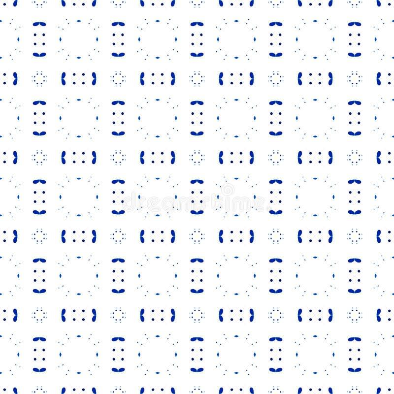 Blau plätschert nahtloses Muster Hand gezeichnetes waterco stock abbildung