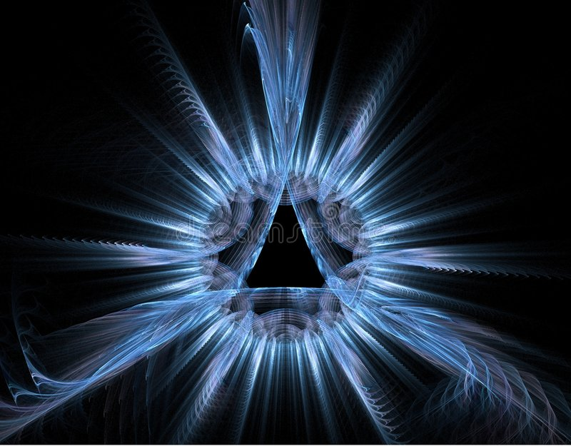 Blau rays Fractal - hellen Hintergrund vektor abbildung