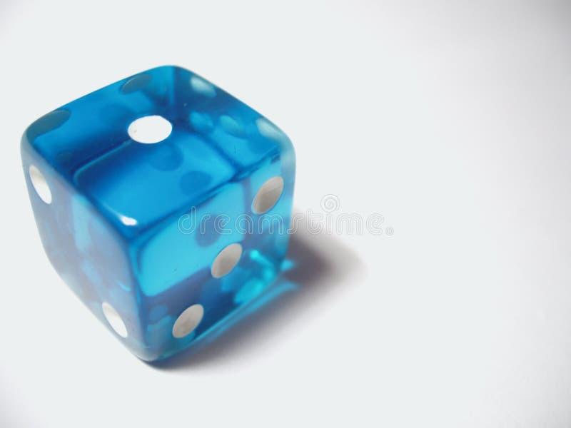 Download Blau sterben Sie stockbild. Bild von würfel, vegas, glücksspiel - 48169
