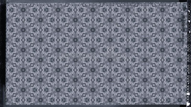 Blau und eleganter Hintergrund Entwurf der grafischen Kunst Illustration Grey Floral Background Pattern Beautifuls stock abbildung