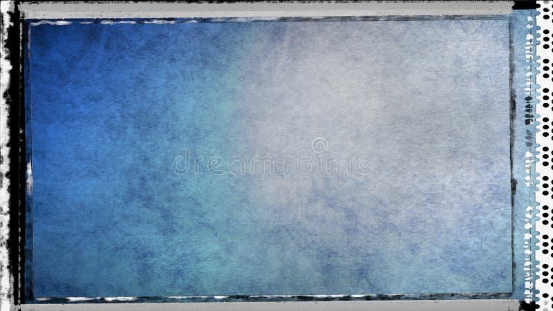 Blau und Hintergrund Entwurf der grafischen Kunst der Grey Dirty Grunge Texture Background-Bild-schöner eleganter Illustration vektor abbildung