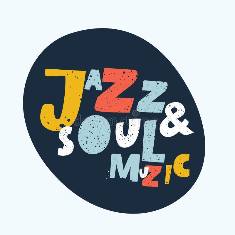 Blau- und Jazzmusik lizenzfreie abbildung