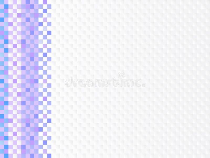 Blau und Magenta färbten Mosaikfliesen für Badezimmer lizenzfreie abbildung