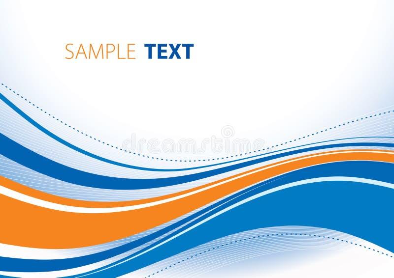Blau- und Orangenwellen lizenzfreie abbildung